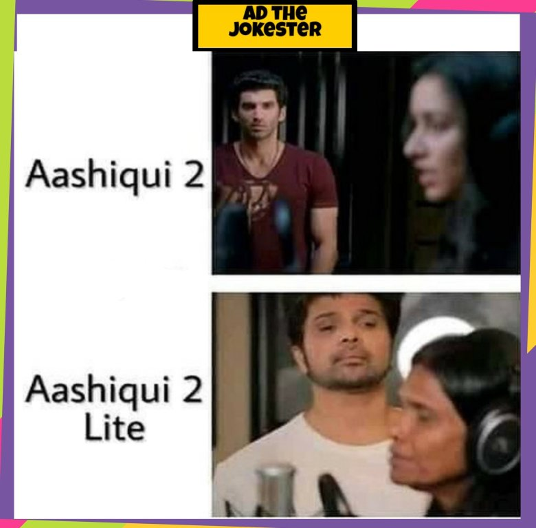 Instagram meme on Himesh reshmiya in the version od Aashiqui 2