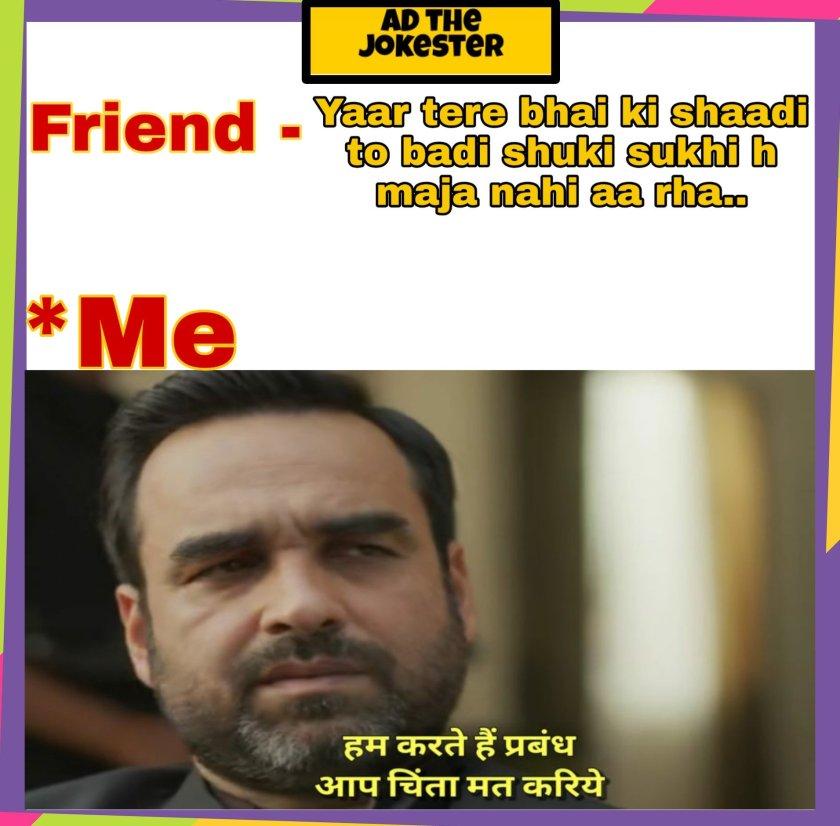Friendship Funny meme in Hindi