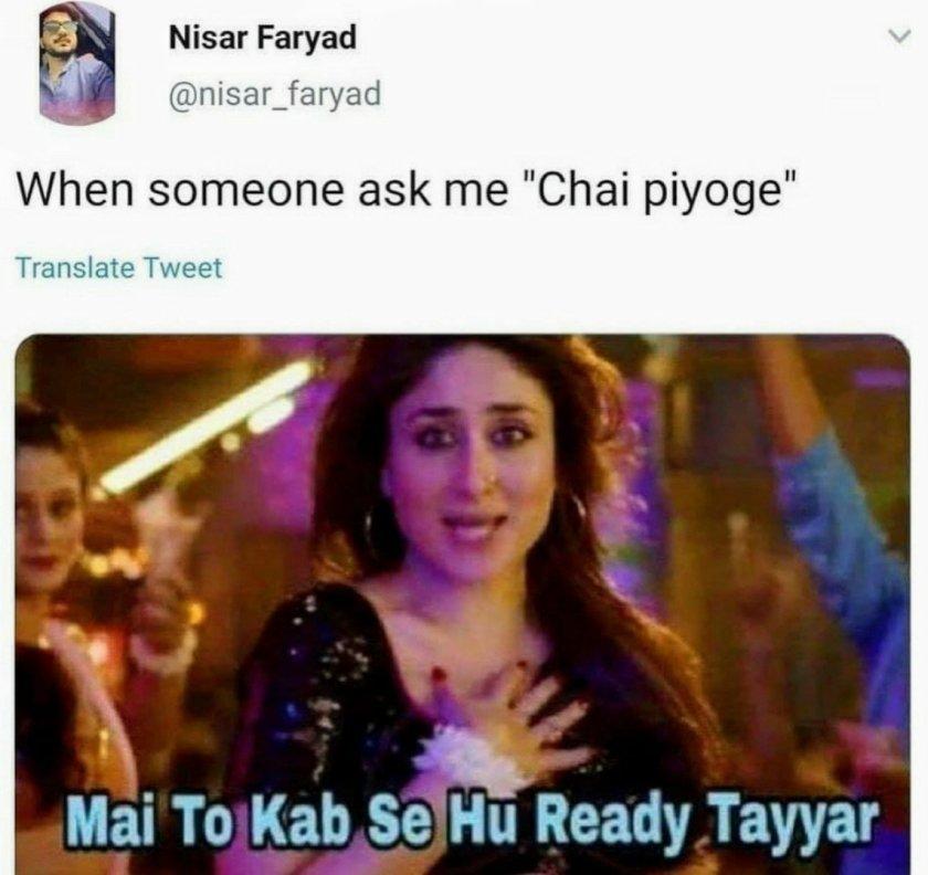 Chai Lovers Memes