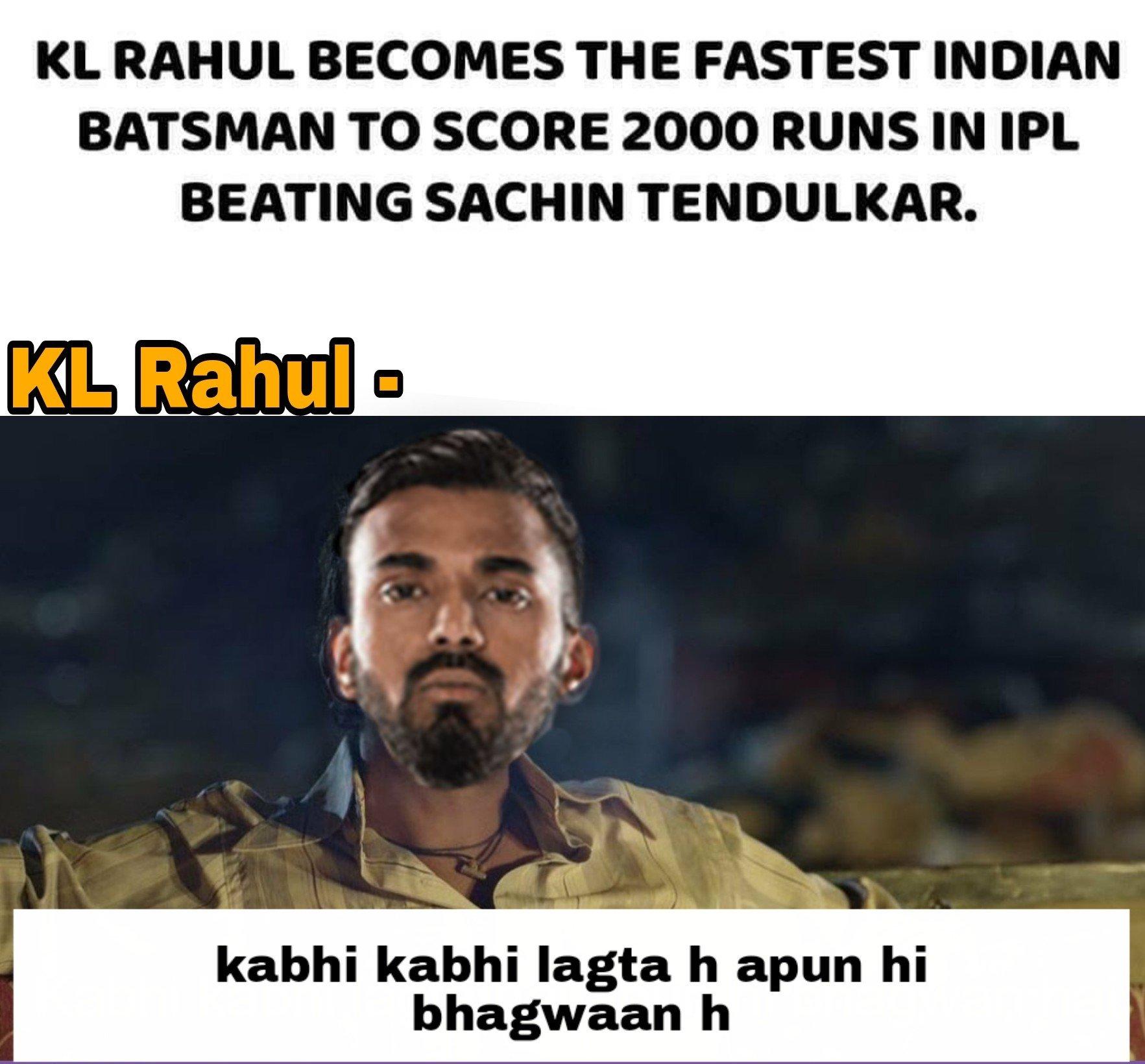 KL Rahul Memes