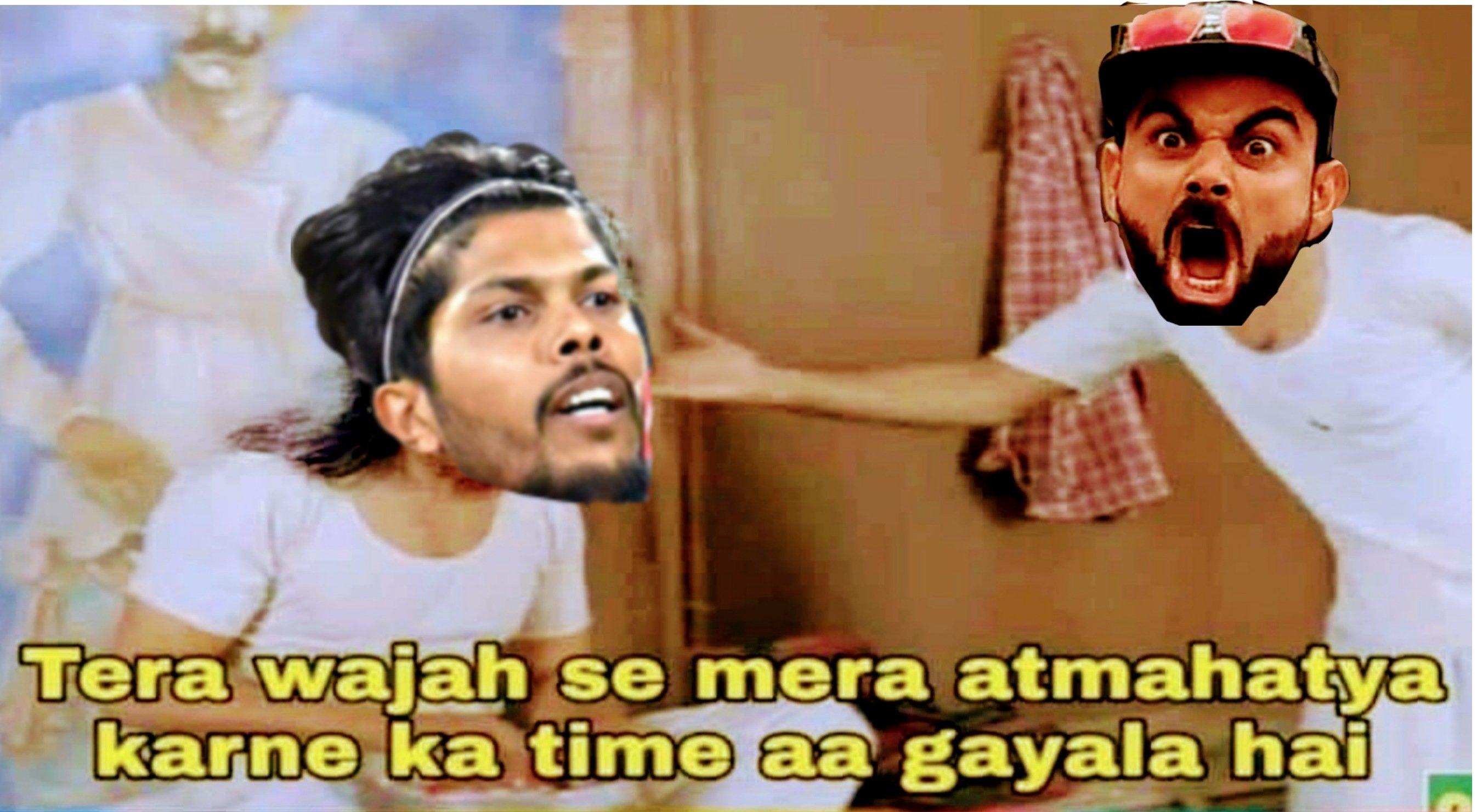 Umesh yadav and Virat kholi memes